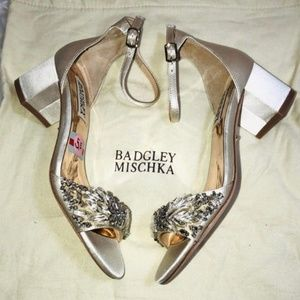 Badgley Mischka Jeweled Sandals 5.5